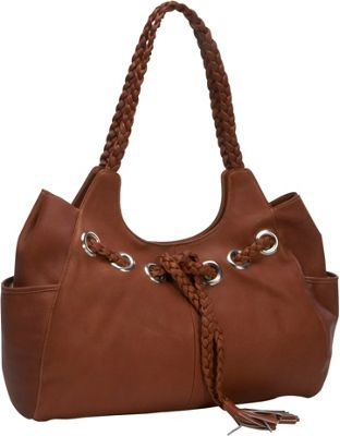 Piel Braided Hobo Saddle - Piel Leather Handbags