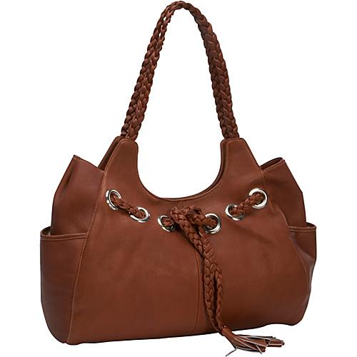Piel Braided Hobo Saddle - Piel Leather Handbags