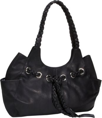 Piel Braided Hobo - Black