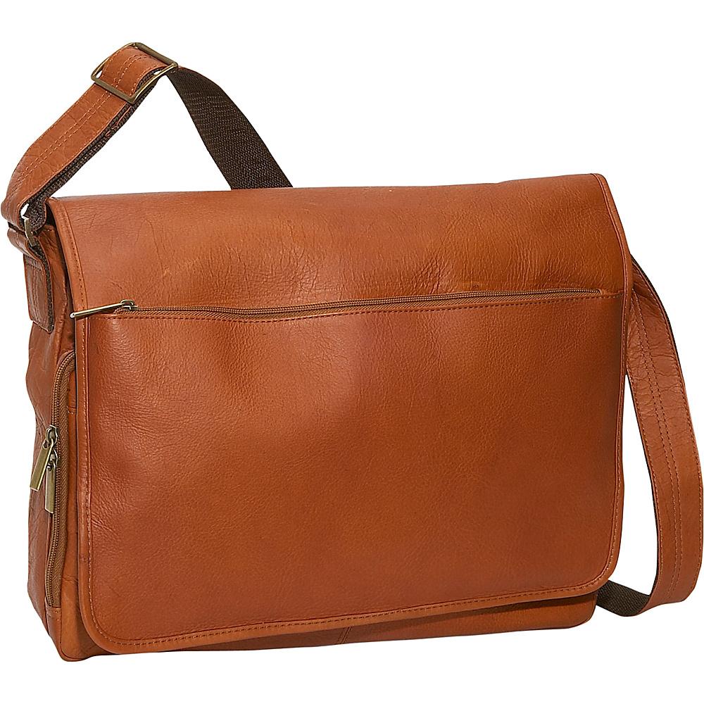David King & Co. Laptop Messenger Bag - Tan - Work Bags & Briefcases, Messenger Bags