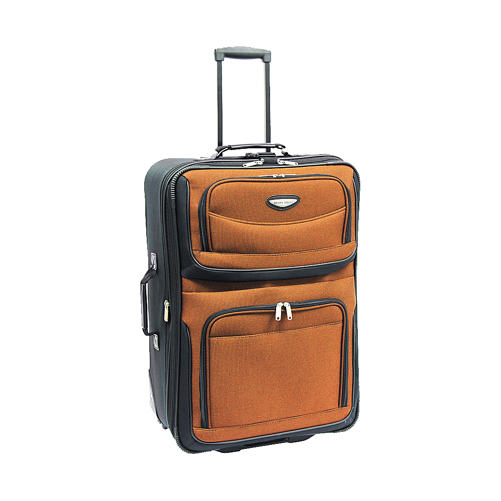 Travelers Choice Amsterdam Expandable Rolling Upright Luggage - 25 Orange - Travelers Choice Softside Checked - Luggage, Softside Checked