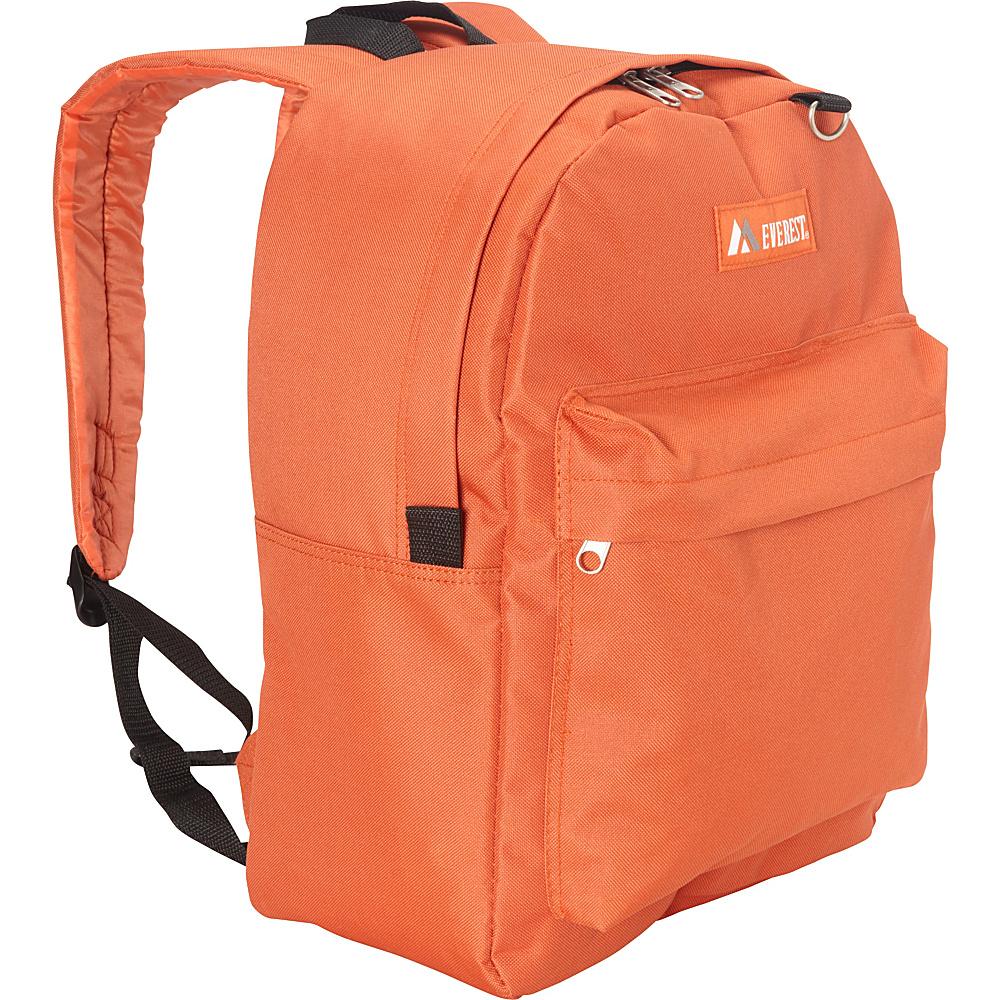 Everest Classic Backpack Rust Orange - Everest Everyday Backpacks - Backpacks, Everyday Backpacks