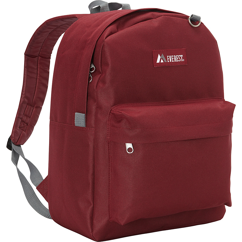 Everest Classic Backpack Burgundy Everest Everyday Backpacks
