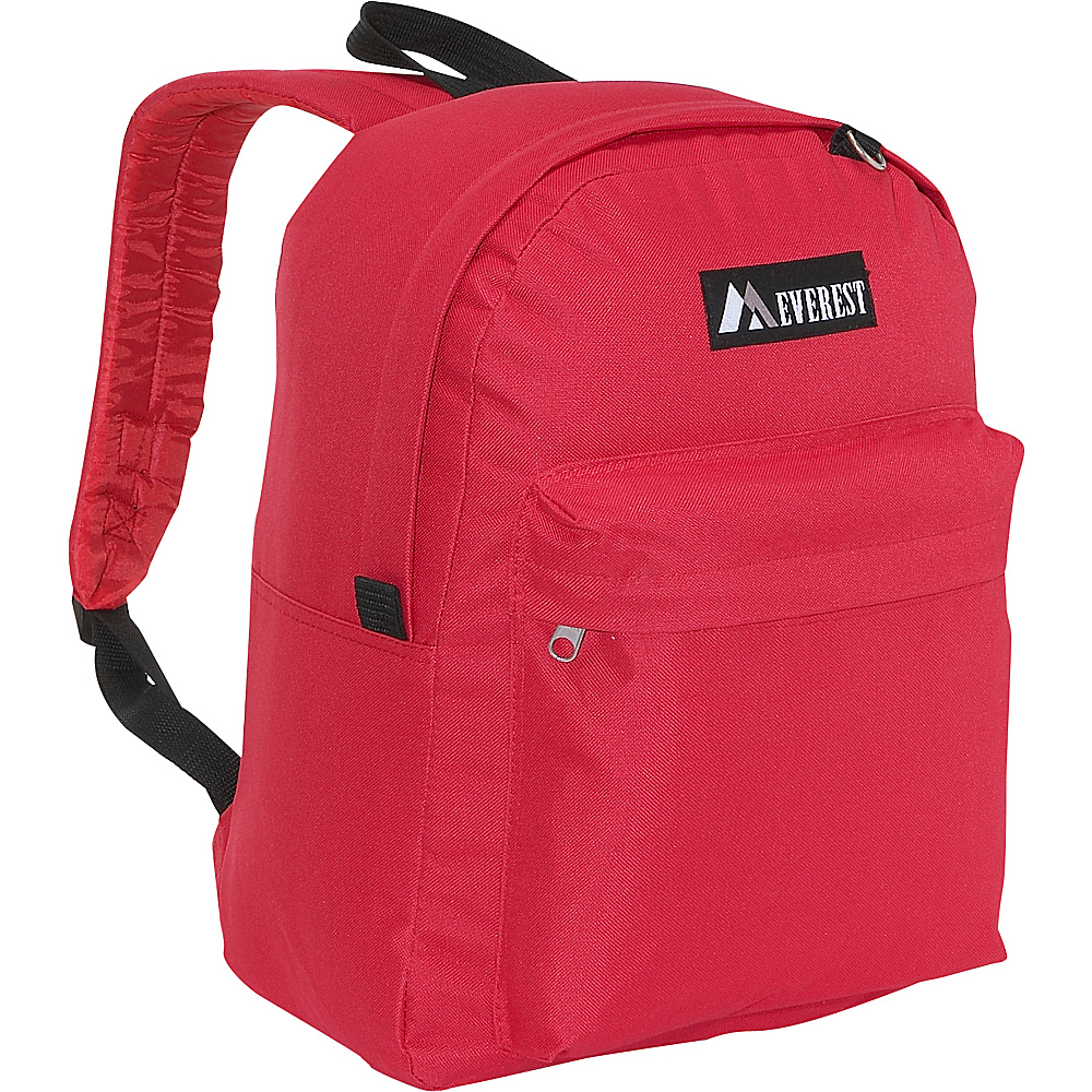 Everest Classic Backpack - Red - Backpacks, Everyday Backpacks