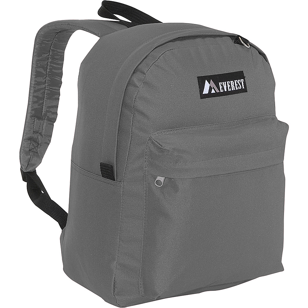 Everest Classic Backpack - Gray - Backpacks, Everyday Backpacks