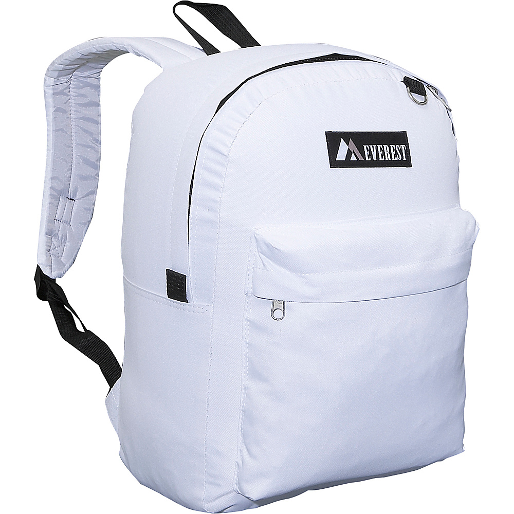 Everest Classic Backpack - Whtie - Backpacks, Everyday Backpacks