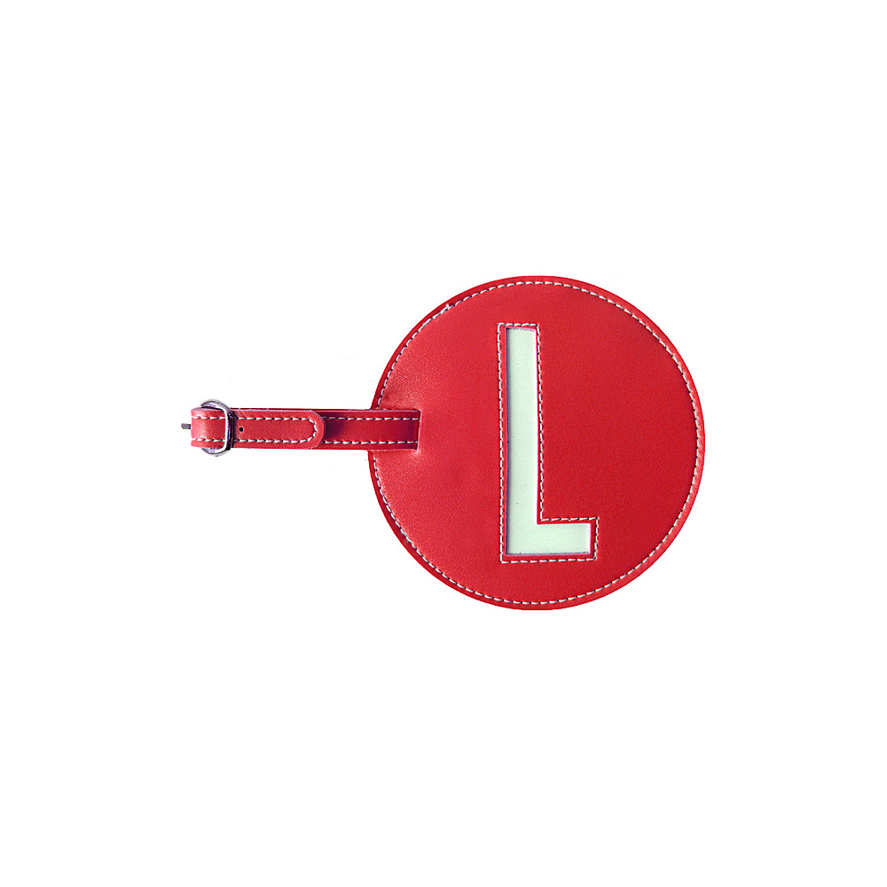 pb travel Initial L Luggage Tag Set of 2 Red pb travel Luggage Accessories