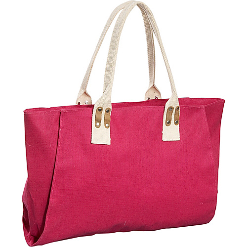 Earth Axxessories Jute Canvas Tote