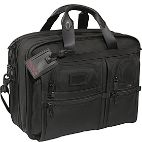 Alpha T-PASS™ Medium Capacity Expandable Laptop Brief Black