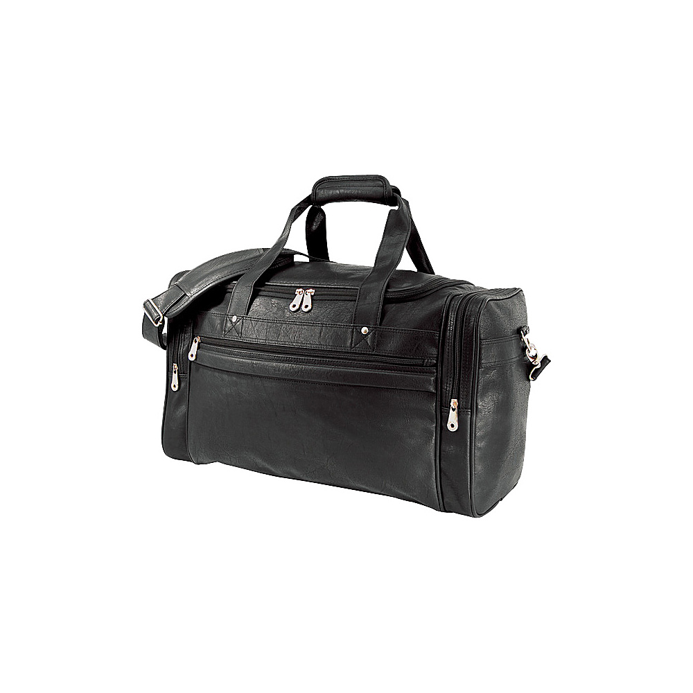 U.S. Traveler Koskin Leather Sport / Travel Carry-On Duffel Bag Black - U.S. Traveler Rolling Duffels