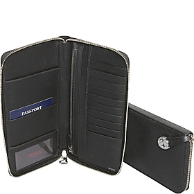 Villa Zip Around Travel Wallet Black