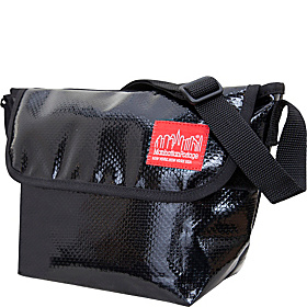 Vinyl Mini NY Messenger Bag Black