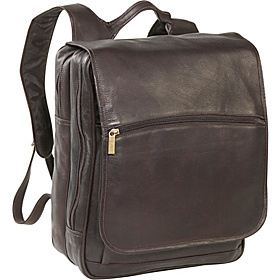 Large Computer Flap Over Backpack Black