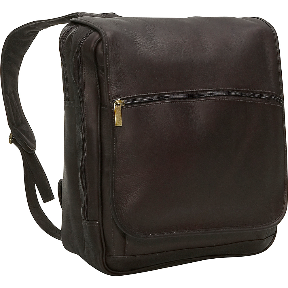 David King & Co. Large Computer Flap Over Backpack Cafe - David King & Co. Business & Laptop Backpacks - Backpacks, Business & Laptop Backpacks