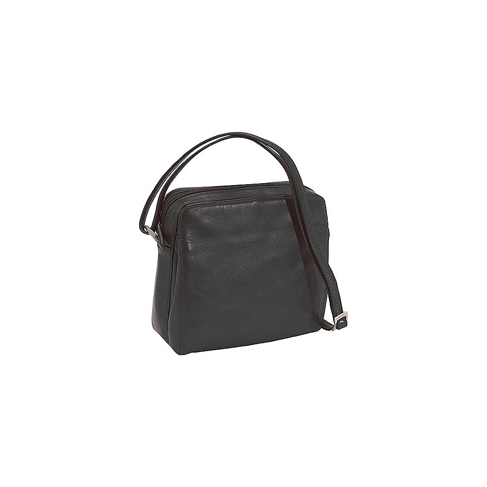 Derek Alexander Function East/West Top Zip - Black - Handbags, Leather Handbags