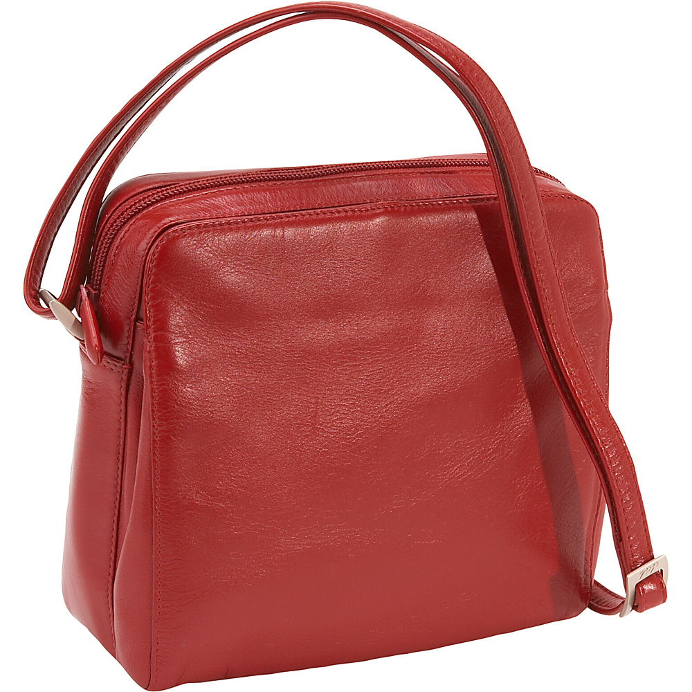 Derek Alexander Function East/West Top Zip - Red - Handbags, Leather Handbags
