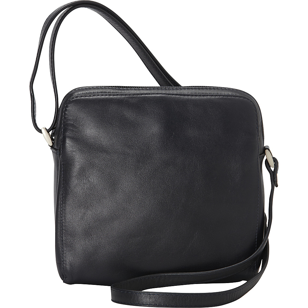 Derek Alexander Function East/West Top Zip Navy - Derek Alexander Leather Handbags - Handbags, Leather Handbags