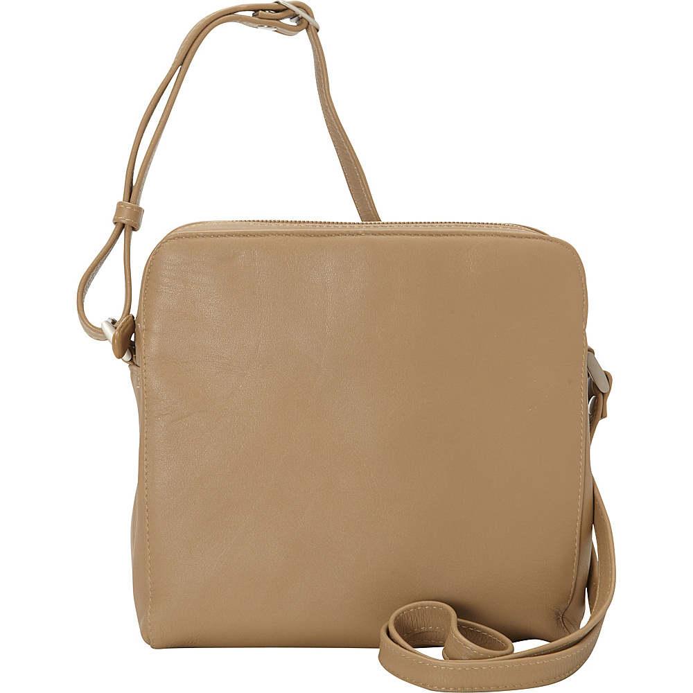 Derek Alexander Function East West Top Zip Camel Derek Alexander Leather Handbags