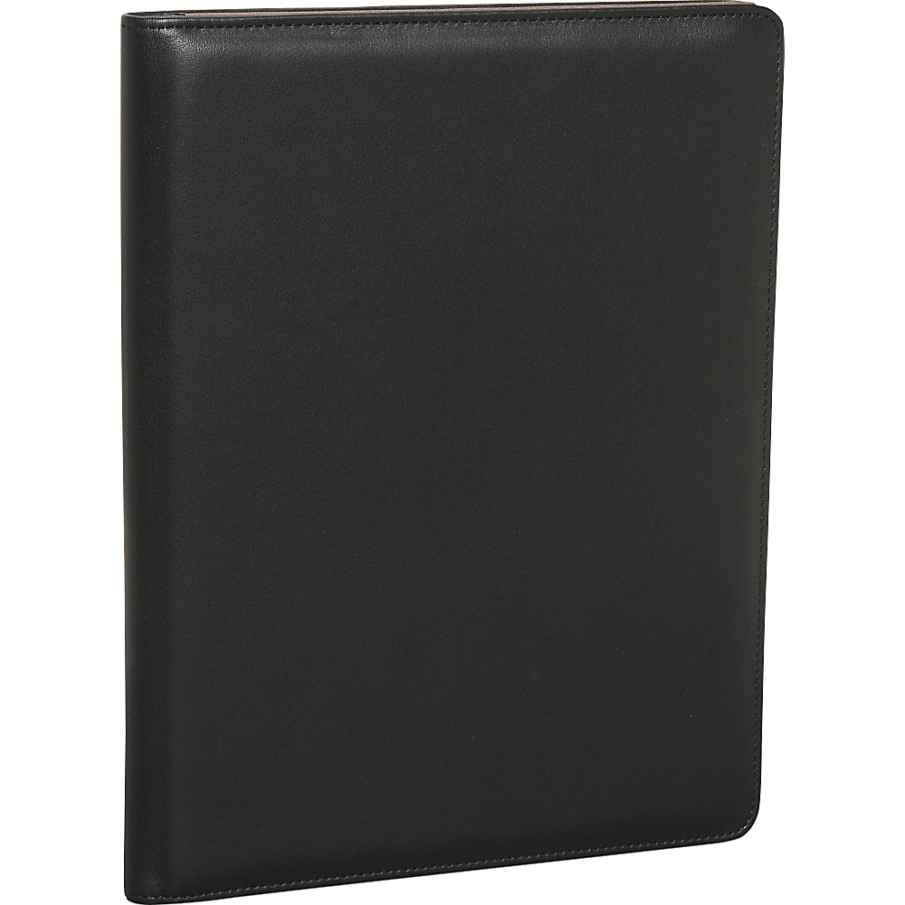 Bosca American Nappa Leather Writing Pad Cover - Black - Work Bags & Briefcases, Business Accessories