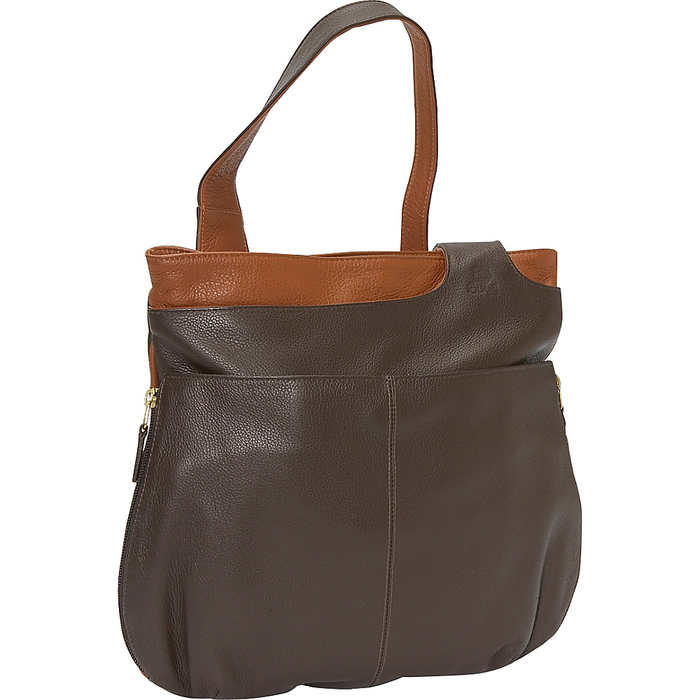 J. P. Ourse & Cie. Midtown - Java/Tan - Handbags, Leather Handbags