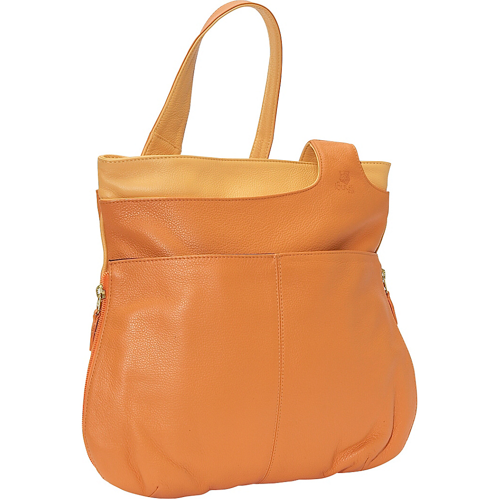 J. P. Ourse & Cie. Midtown - Tangerine/Butter - Handbags, Leather Handbags