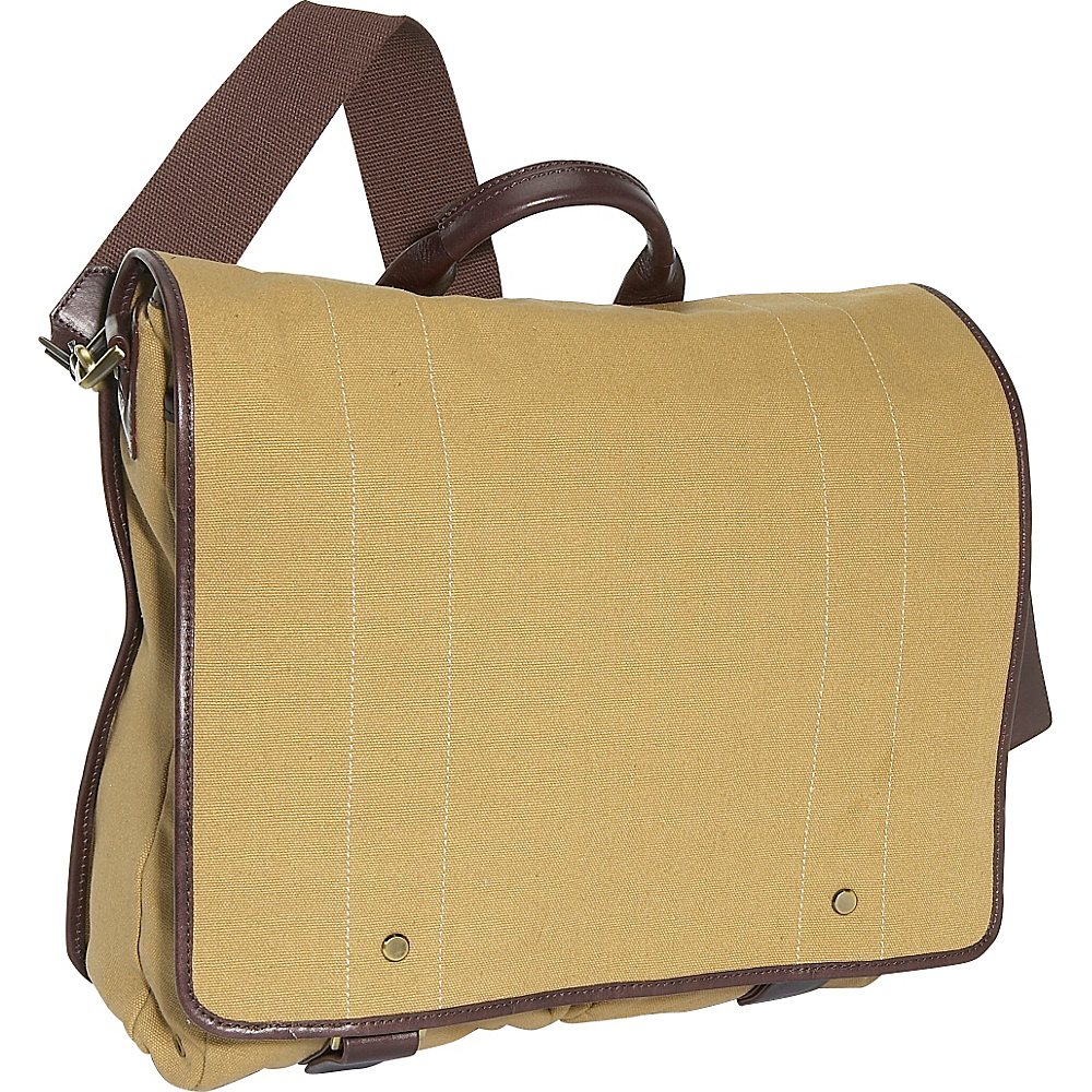 Clava Mail Bag Canvas Khaki Canvas w Cafe Trim
