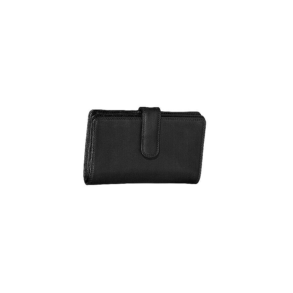 Derek Alexander Ladies Slim Wallet - Black - Women's SLG, Women's Wallets
