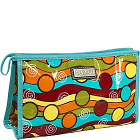 Printed Coated Toiletry Pod Multi Colored Pattern