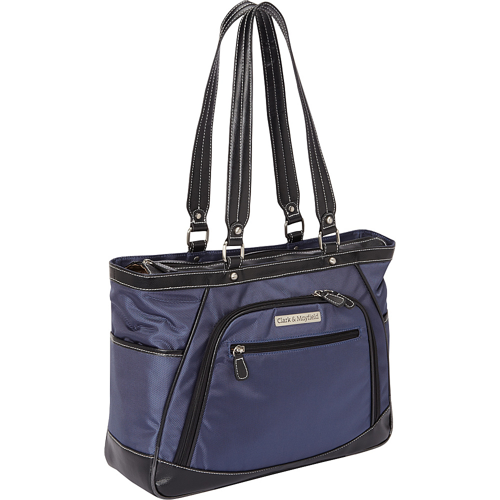 Clark Mayfield Sellwood Metro Laptop Handbag 15.6 Navy Blue Clark Mayfield Women s Business Bags