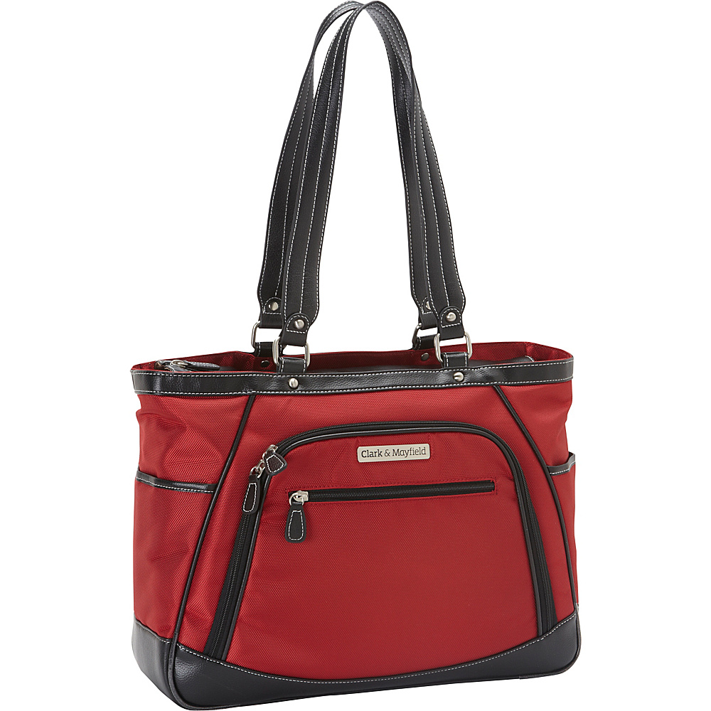 Clark Mayfield Sellwood Metro Laptop Handbag 15.6 Red Clark Mayfield Women s Business Bags