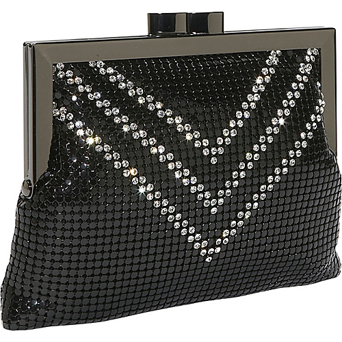 Whiting and Davis Crossbody Crystal V's - Clutch