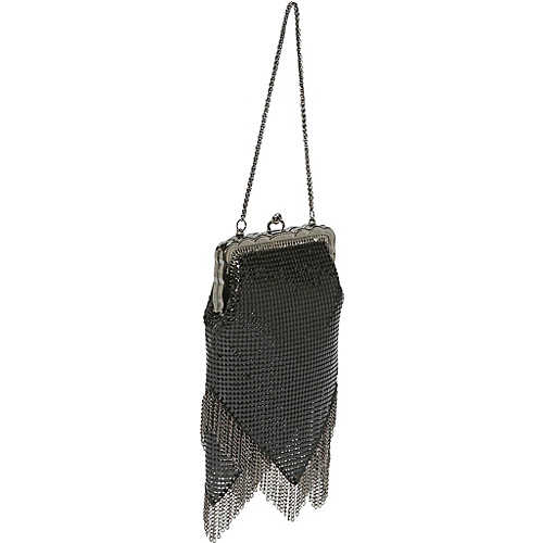 Whiting and Davis Vintage-Look Chain Fringe Bag - Clutch
