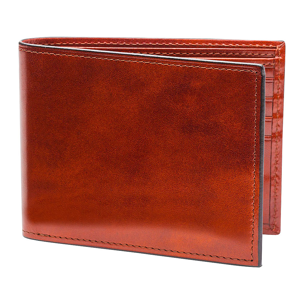 Bosca Old Leather Continental I.D. Wallet Cognac - Bosca Mens Wallets - Work Bags & Briefcases, Men's Wallets