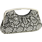 Buy Whiting and Davis Lotus Print Cut-Out Handle Clutch by Whiting and Davis