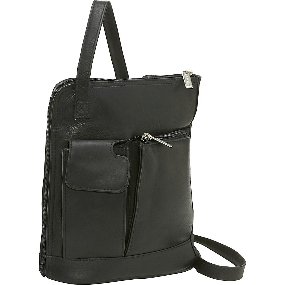 Le Donne Leather L Zip Shoulder Bag - Black - Handbags, Leather Handbags