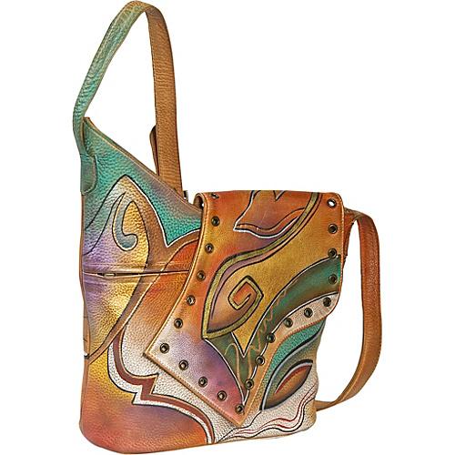 Anuschka Abstract Flap Bag-Abstract Sunset - Abstract