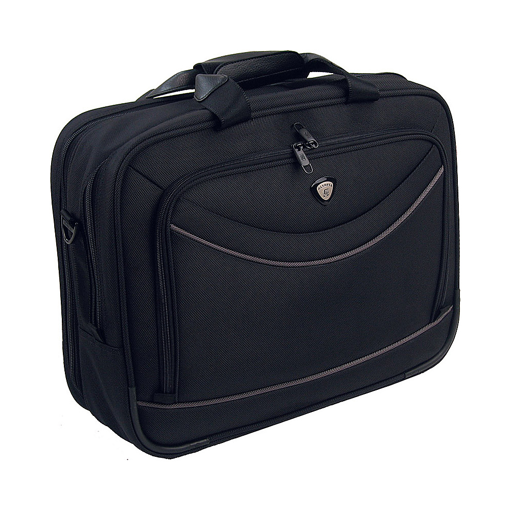Olympia Business Laptop Case - Black - Work Bags & Briefcases, Non-Wheeled Business Cases