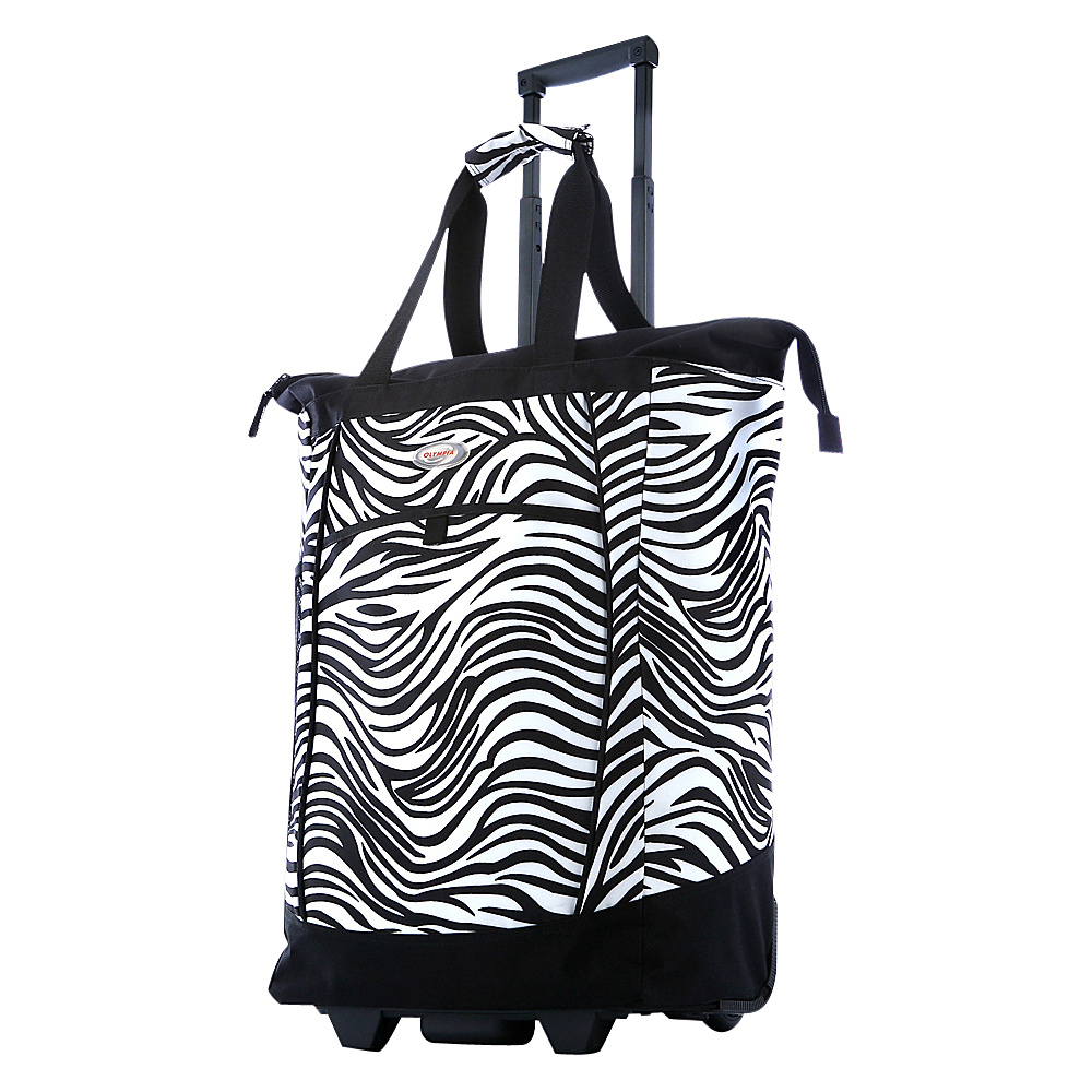 "Olympia USA Shopper Tote Bag - 20"" Zebra - Olympia USA Softside Carry-On"