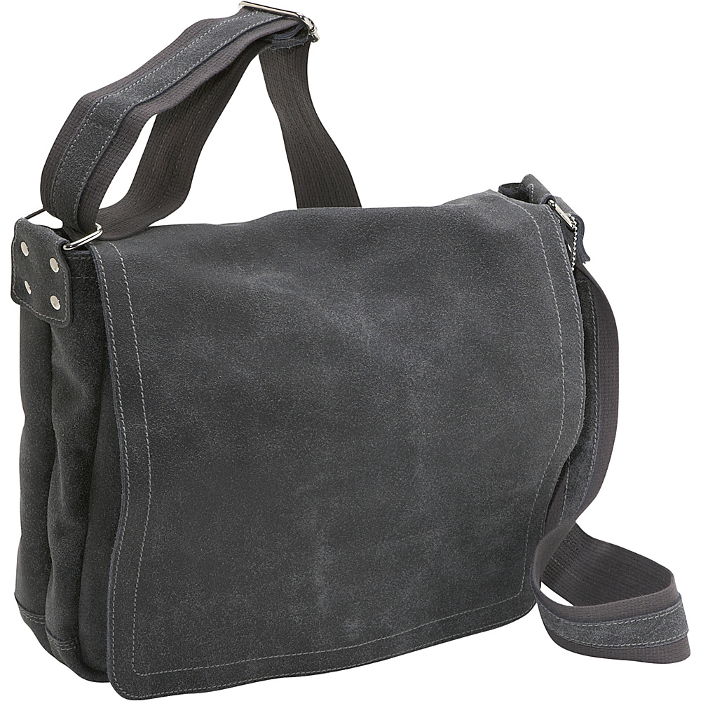 David King & Co. Distressed Leather Laptop Messenger - - Work Bags & Briefcases, Messenger Bags