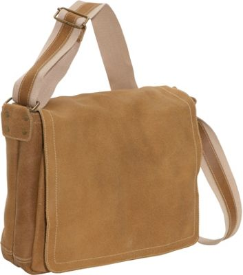 David King & Co. North South Laptop Messenger Distressed Tan - David King & Co. Messenger Bags