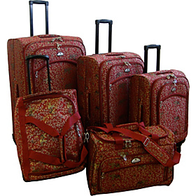 Budapest 5-pc Spinners Luggage Set Red
