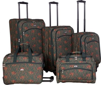 American Flyer Budapest 5-pc Spinners Luggage Set Green - American Flyer Luggage Sets