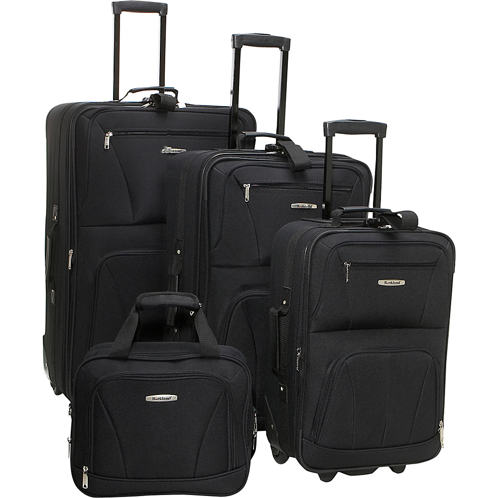Rockland Luggage Deluxe 4 Piece Luggage Set - Black - Luggage, Luggage Sets