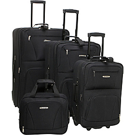 Deluxe 4 Piece Luggage Set Black