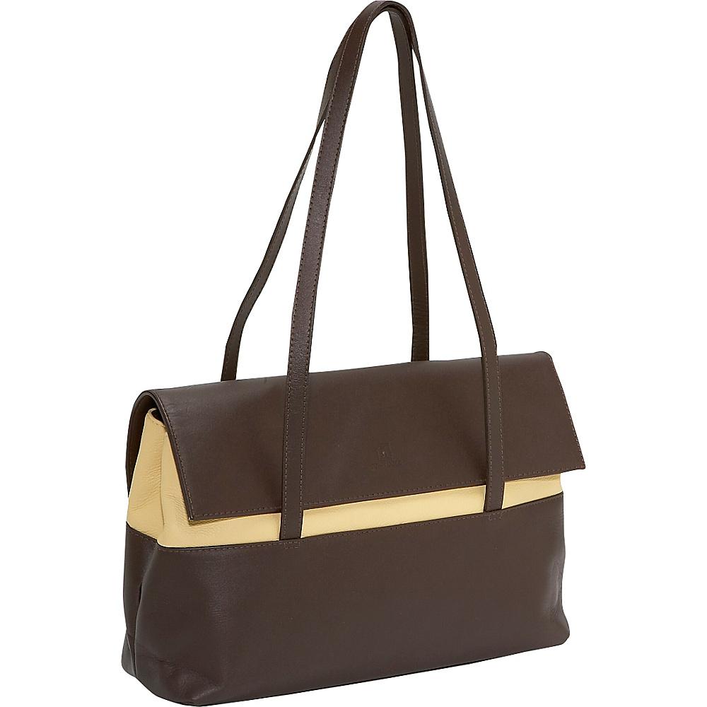 John Cole Leslie - Espresso/Crme - Handbags, Leather Handbags