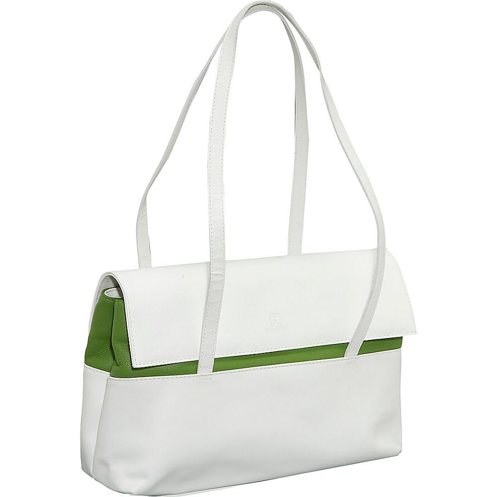 John Cole Leslie - Moonlight/Lemon Lime - Handbags, Leather Handbags