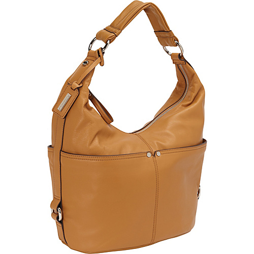 Tignanello Polished Pocket Hobo - Cognac