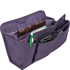 RFID Blocking Purse Organizer Lg. Eggplant