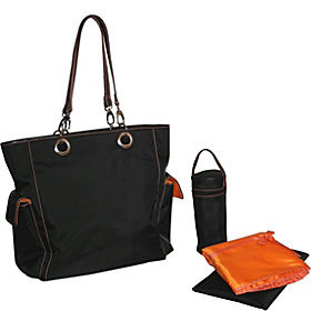Maxi Tote Black/Orange