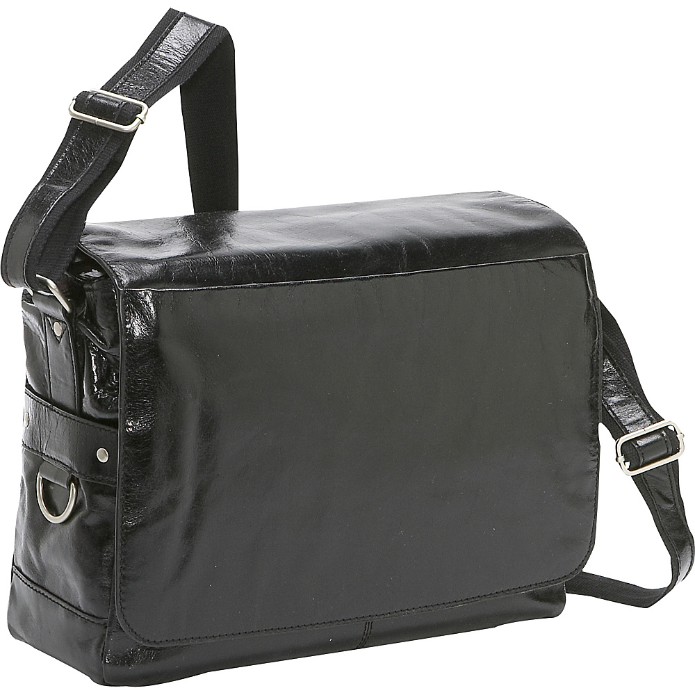 Bellino Messenger Bag - Black - Work Bags & Briefcases, Messenger Bags